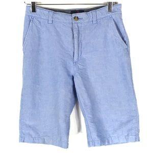 Class Club Boy's Flat Front Chambray Chino Shorts